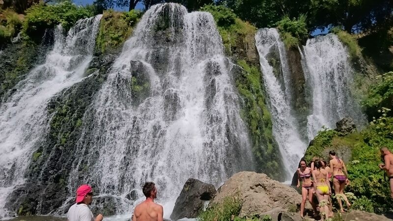 Hiking in Syunik Armenia Shaki waterfall